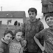 A gypsy community in Copsa Mica, Transylvania, Romania. 23rd July 2011. Photo Tim Clayton