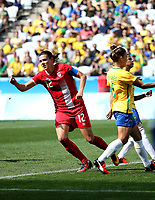 (160819) -- RIO DE JANEIRO, Aug. 19, 2016 -- Christine Sinclair of Canada (L) celebrates scoring during the women s football bronze medal match between Brazil and Canada at the 2016 Rio Olympic Games Olympische Spiele Olympia OS in Rio de Janeiro, Brazil, on Aug. 19, 2016. Canada beat Brazil with 2:1. )<br /> Norway only