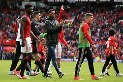21 May 2017 - Premier League Football - Manchester United v Crystal Palace - Marcus Rashford of Manchester United takes the applause during the lap of appreciation - Photo: Paul Roberts / Offside