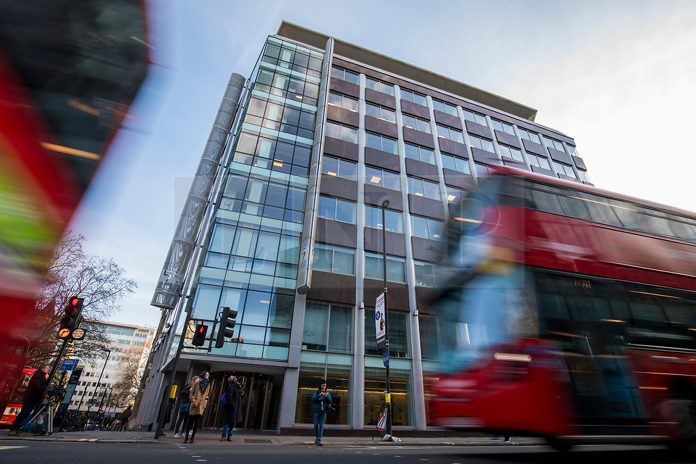 © Licensed to London News Pictures. 21/03/2018. London, UK. The offices of Cambridge Analytica in central London. Cambridge Analytica has been implicated in an investigation into the misuse of Facebook user data to influence the outcome of elections. Photo credit: Rob Pinney/LNP