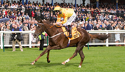Billy No Mates ridden by Callum Rodriguez win the QTS British Stallion Studs EBF Nursery during William Hill Ayr Gold Cup Day at Ayr Racecourse.