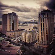 Poydras Street and Mississippi River, New Orleans