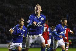 Leicester City's Ritchie De Laet celebrates his goal - Photo mandatory by-line: Matt Bunn/JMP - Tel: Mobile: 07966 386802 25/01/2014 - SPORT - FOOTBALL - King Power Stadium - Leicester - Leicester City v Middlesbrough - Sky Bet Championship