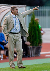 Coach of Rudar Marijan Pusnik at 1st Round of Europe League football match between NK Rudar Velenje (Slovenia) and Trans Narva (Estonia), on July 9 2009, in Velenje, Slovenia. Rudar won 3:1 and qualified to 2nd Round. (Photo by Vid Ponikvar / Sportida)