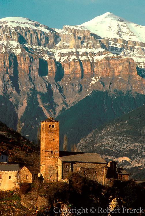 SPAIN, ARAGON, PYRENEES Torla; mountain village near Ordesa