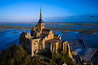 France, Manche (50), Baie du Mont Saint-Michel classé Patrimoine Mondial de l'UNESCO, Abbaye du Mont Saint-Michel // France, Normandy, Manche department, Bay of Mont Saint-Michel Unesco World Heritage, Abbey of Mont Saint-Michel