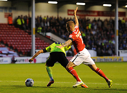 Jake Forster-Caskey of Brighton & Hove Albion is brought down by Jason Demetriou of Walsall for a penalty - Mandatory byline: Dougie Allward/JMP - 07966386802 - 25/08/2015 - FOOTBALL - Bescot Stadium -Walsall,England - Walsall v Brighton - Capital One Cup - Second Round