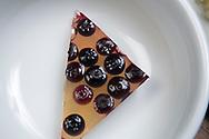 Kanten, blueberry dessert. <br /> Cooking by macrobiotic master chef Mayumi Nishimura.<br /> <br /> Photographer: Christina Sjogren<br /> Copyright 2019, All Rights Reserved