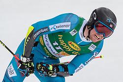 04.03.2017, Podkoren, Kranjska Gora, SLO, FIS Weltcup Ski Alpin, Kranjska Gora, Riesenslalom, Herren, 2. Lauf, im Bild Aleksander Aamodt Kilde (NOR) // Aleksander Aamodt Kilde of Norway reacts after his 2nd run of men's Giant Slalom of FIS ski alpine world cup at the Podkoren in Kranjska Gora, Slovenia on 2017/03/04. EXPA Pictures © 2017, PhotoCredit: EXPA/ Johann Groder