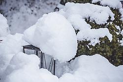 THEMENBILD - eine Gartenlaterne mit Schnee bedeckt, aufgenommen am 13. November 2019, Piesendorf, Österreich // a garden lantern covered with snow on 2019/11/13, Piesendorf, Austria. EXPA Pictures © 2019, PhotoCredit: EXPA/ Stefanie Oberhauser