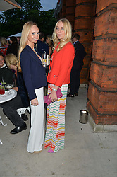 Left to right, The HON.ELEANOR WELLESLEY and XENIA RANKIN at The Ralph Lauren & Vogue Wimbledon Summer Cocktail Party at The Orangery, Kensington Palace, London on 22nd June 2015.  The event is to celebrate ten years of Ralph Lauren as official outfitter to the Championships, Wimbledon.