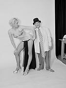 "Ackroyd 05062-1/4""Burt Glinn. Life Magazine Photographer. pics of 'Frosty Winter' burlesque queen & comedian Hermie Rose. March 19, 1954"""
