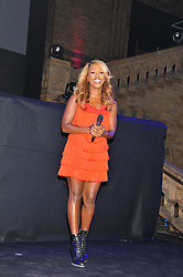Singer ALEXANDRA BURKE at the annual Chain of Hope's annual Gala Ball held at the Natural History Museum, London on 8th November 2012.