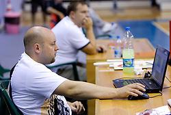 Physiotherapist Sebastjan Ogris during  the Practice session of National team of Slovenia at 2010 FIBA World Championships on September 4, 2010 at Ahmet Comert Spor Salonu in Istanbul, Turkey. (Photo By Vid Ponikvar / Sportida.com)
