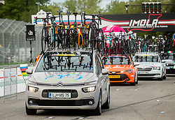 Car of Slovenia during Men Elite Road Race at UCI Road World Championship 2020, on September 27, 2020 in Imola, Italy. Photo by Vid Ponikvar / Sportida