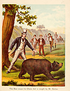 The Bear snaps his Chain but caught by Mr. Barlow From the Book '  Sandford and Merton : in words of one syllable ' by Thomas Day, Mary Godolphin and Lucy Aikin, Published in New York by McLoughlin Brother's, Publishers