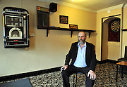 """Danny Healy-Rae pictured in his pub in Kilgarvan village in County Kerry where the juke box and darts are still popular.<br /> Picture by Don MacMonagle<br /> Story by Majella O""""Sullivan"""