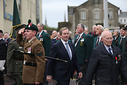 Taoiseach Enda Kenny (centre) at a Remembrance Sunday service at the Cenotaph in Enniskillen, held in tribute for members of the armed forces who have died in major conflicts.