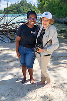 Sylvia Earle and Hope Spot Champion Angelique Pouponneau in Seychelles