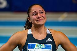 Naomi Sedney in action on the 60 meter during AA Drink Dutch Athletics Championship Indoor on 20 February 2021 in Apeldoorn.