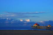 Cloudy Sunrise at Huntington Beach