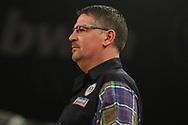 Gary Anderson during the BWIN Grand Slam of Darts at Aldersley Leisure Village, Wolverhampton, United Kingdom on 18 November 2018.