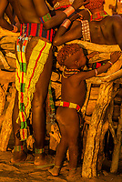 A naked girl of theHamer tribe in their village, Omo Valley, Ethiopia.