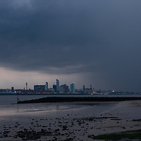 A large storm moves in to cover Liverpool, Monday, May 19th. 2014.