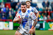 Workington Town hooker Sean Penkywicz (24) in action  during the Betfred League 1 match between Keighley Cougars and Workington Town at Cougar Park, Keighley, United Kingdom on 18 February 2018. Picture by Simon Davies.