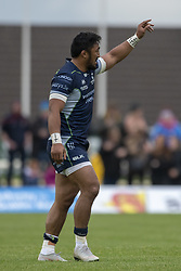 September 22, 2018 - Galway, Ireland - Bundee Aki of Connacht celebrates scoring during the Guinness PRO14 match between Connacht Rugby and Scarlets at the Sportsground in Galway, Ireland on September 22, 2018  (Credit Image: © Andrew Surma/NurPhoto/ZUMA Press)
