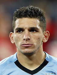 Lucas Torreira of Uruguay during the 2018 FIFA World Cup Russia round of 16 match between Uruguay and at the Fisht Stadium on June 30, 2018 in Sochi, Russia
