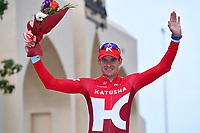 Podium, KRISTOFF Alexander (NOR) Katusha, winner, during the 7th Tour of Oman 2016, Stage 3, Al Sawadi Beach - Naseem Park (176,5Km), on February 18, 2016 - Photo Tim de Waele / DPPI