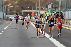 NYC Marathon, chse pack of women mile one, Lilienthal, Dionne
