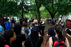 Police break up an altercation in Lafayette Square Park where protestors gathered against a white nationalist rally in Washington, D.C. on Sunday, August 12, 2018. Photo by Darryl Smith/TNS/ABACAPRESS.COM