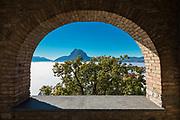 Thermal inversion on the Lugano Lake in Switzerland