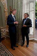 NORMAN KURLAND, David Campbell and Knopf host the 20th Anniversary of the revival of Everyman's Library. Spencer House. St. James's Place. London. 7 July 2011. <br /> <br />  , -DO NOT ARCHIVE-© Copyright Photograph by Dafydd Jones. 248 Clapham Rd. London SW9 0PZ. Tel 0207 820 0771. www.dafjones.com.