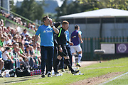 Forest Green Rovers manager, Mark Cooper shouts instructions during the Vanarama National League Play Off second leg match between Forest Green Rovers and Dagenham and Redbridge at the New Lawn, Forest Green, United Kingdom on 7 May 2017. Photo by Shane Healey.
