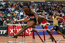 2020 USATF Indoor Championship<br /> Albuquerque, NM 2020-02-15<br /> photo credit: © 2020 Kevin Morris<br /> mens 60m hurdles,