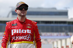 September 27, 2018 - Concord, North Carolina, United States of America - Michael Annett (5) hangs out in the garage during practice for the Drive for the Cure 200 at Charlotte Motor Speedway in Concord, North Carolina. (Credit Image: © Chris Owens Asp Inc/ASP via ZUMA Wire)