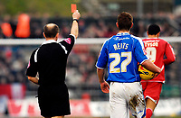 Photo: Alan Crowhurst.<br />Brighton & Hove Albion v Nottingham Forest. Coca Cola League 1. 17/02/2007. Forest's Nathan Tyson (R) is sent off by Andy Woolmer for foul and abusive language.