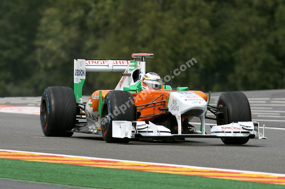 Nico Hulkenberg (Force India-Mercedes) at the 2011 Belgian Grand Prix at Spa-Francorchamps. Photo: Grand Prix Photo