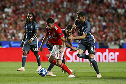 September 19, 2018 - Lisbon, Portugal - Pizzi of Benfica (L) vies for the ball with Javi Martinez of Bayern Munchen (R)  during Champions League 2018/19 match between SL Benfica vs FC Bayern Munchen, in Lisbon, on September 19, 2018. (Credit Image: © Carlos Palma/NurPhoto/ZUMA Press)