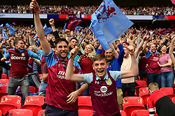 May 27, 2019 - London, England, United Kingdom - Aston Villa supporters during the Sky Bet Championship match between Aston Villa and Derby County at Wembley Stadium, London on Monday 27th May 2019. (Credit: Jon Hobley | MI News) (Credit Image: © Mi News/NurPhoto via ZUMA Press)