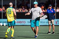 BREDA -  Assistent coach Anthony Potter (Aus) met Matthew Swann (Aus) , Australia-India (1-1), finale Rabobank Champions Trophy 2018. Australia wint shoot outs.  COPYRIGHT  KOEN SUYK