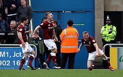 Nicky Adams of Northampton Town celebrates scoring a goal - Mandatory by-line: Robbie Stephenson/JMP - 09/04/2016 - FOOTBALL - Sixfields Stadium - Northampton, England - Northampton Town v Bristol Rovers - Sky Bet League Two