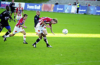 Fotball/100803/Alfheim/TIL - Sogndal/1-1/Ole Martin Årst, Espen Minde (TIL) bak <br /> FOTO: KAJA BAARDSEN/DIGITALSPORT