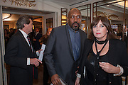 LENNY HENRY; LISA MAKIM, The Sky South Bank Arts Awards, Dorchester Hotel , Park Lane, London. 1 May 2012.