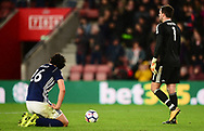Ahmed Hegazi of West Bromwich and Ben Foster of West Bromwich looking dejected after conceding a late goal .Premier league match, Southampton v West Bromwich Albion at the St. Mary's Stadium in Southampton, Hampshire, on Saturday 21st  October 2017.<br /> pic by Bradley Collyer, Andrew Orchard sports photography.