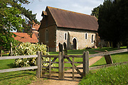 St Bartholomew church in Wanborough, Surrey, UK. Originally a Saxon church, it was rebuilt in the 12th century and is a beautiful and simple chapel originally built for the monks of Waverley Abbey. It now serves the rural parish of Wanborough, as part of the United Parish of Seale, Puttenham and Wanborough.