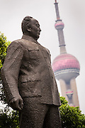 Statue of Shanghai Mayor Chen Yi on the Bund Shanghai, China.